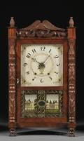 Mark Levenworth Carved Column Shelf Clock