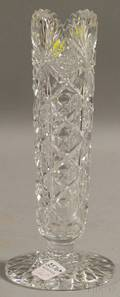 Hawkes Colorless Cut Glass Vase