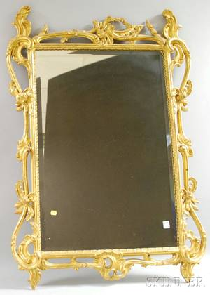 Louis XVstyle Carved Giltwood Mirror