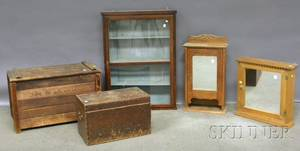 Three Small Cabinets and Two Storage Boxes