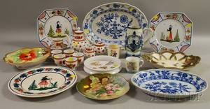 Twentyseven Pieces of Assorted English and Continental Decorated Ceramic Tableware