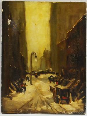 After Robert Henri American 18651929 Snow Scene New York City