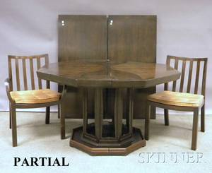 MidCentury Modern Baker Dining Table and Chairs