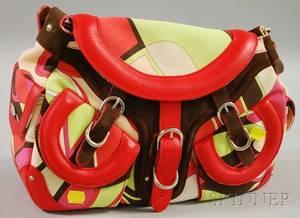 Emilio Pucci Canvas and Leather Handbag