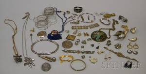 Group of Assorted Silver Mexican and Ethnic Jewelry