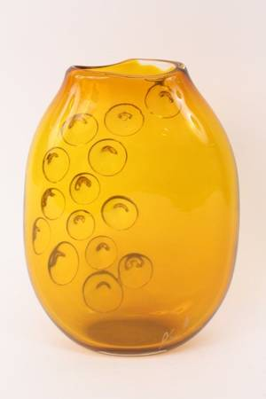 Italian Amber Glass Sculptural Table Vase