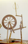 Pennsylvania oak spinning wheel late 18th c
