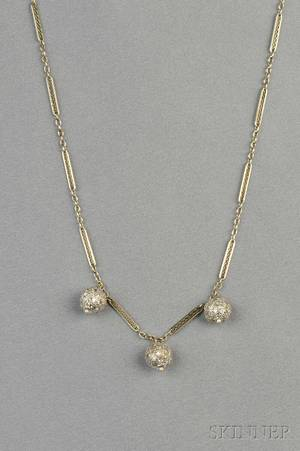 14kt White Gold and Diamond Necklace