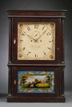 Mahogany FourColumn Shelf Clock by Heman Clark