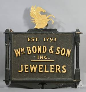 The Shop Sign of William Bond  Son Inc