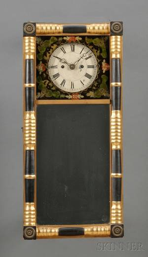 New Hampshire Mirror Clock Attributed to Timothy Chandler