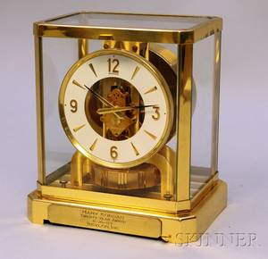 Brass and Glass Atmos Clock by JaegerLeCoultre
