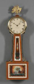 Mahogany Patent Timepiece or Banjo Clock by Foster S Campos