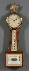 Mahogany Patent Timepiece or Banjo Clock by Foster Campos
