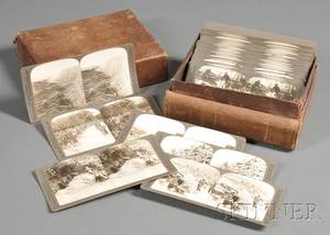 Box of Approximately Fortysix World War I Stereoscopic Cards