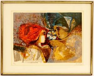 Sunol Alvar Figural Lithograph Signed