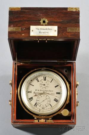 TwoDay Marine Chronometer by William Bond  Son