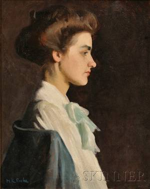 Marion Louise Pooke American 18831975 Portrait of a Young Woman in Profile
