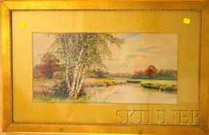 John Jesse Francis American 18891939 Landscape with River