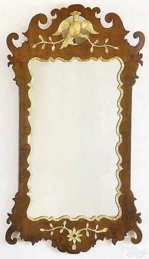 George III Chippendale mahogany mirror ca 1790