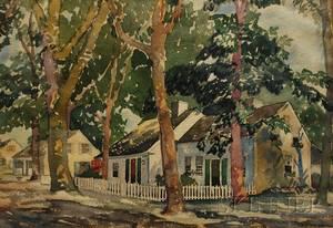 Yngve Edward Soderberg American 18961971 Shady Village Street