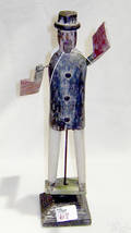 American carved and polychromed whirigig 20th c