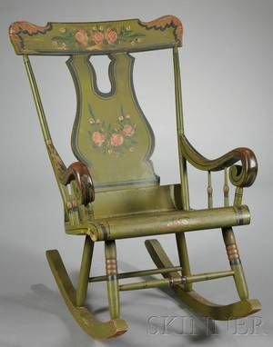 Paintdecorated Rocking Chair