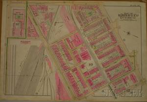 Late 19th Century Part of Wards 10 11  12 City of Boston Map
