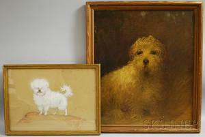 Two Dog Portraits Charles Livingston Bull American 18741932 Portrait of a White Dog