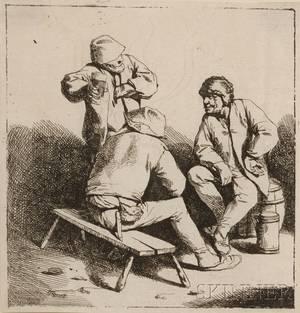 Cornelis Pietersz Bega Dutch c 16201664 The Three Drinkers