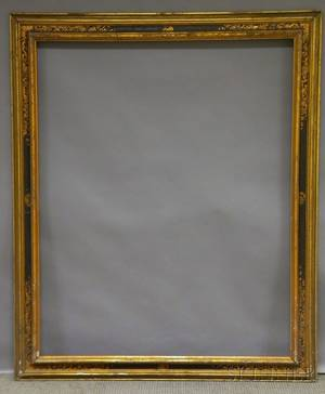 Arts  Crafts Gilt and Painted Frame