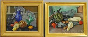 Molly Burroughs Luce American 18961986 Two Works Still Life with Fruit