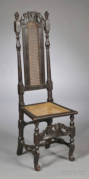 Jacobean Oak Side Chair
