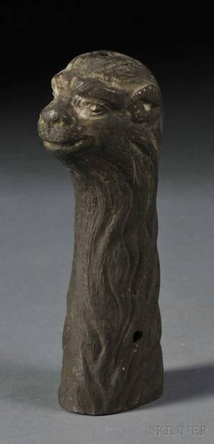 Bronze Animal Head Blade Handle