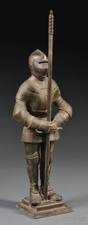 Nestor Bronze Model of a Guard in Armor