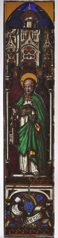 Stained Glass Panel Depicting St Peter