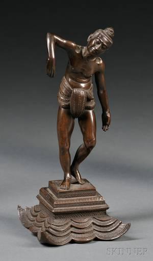 Bronze Figure of an Asian Man