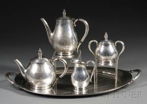 Fourpiece International Royal Danish Sterling Coffee and Tea Service