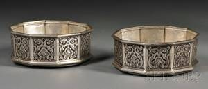 Pair of Victorian Silver Wine Coasters