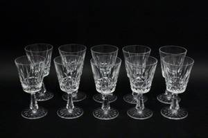 Set of Ten Waterford Crystal Footed Goblets