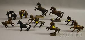Eleven Cast Iron Horse Figural Still Banks