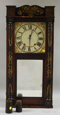 Jeromes and Darrow Mahogany Shelf Clock