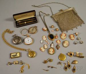 Group of Assorted Mens and Womens Antique Jewelry Items