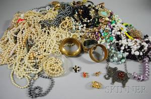 Large Group of Beaded and Costume Jewelry