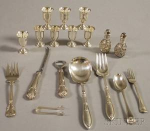 Group of Assorted Sterling Silver Tableware and Flatware