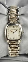 Stainless Steel and Sterling Silver Thoroughbred Wristwatch David Yurman