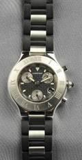 Stainless Steel 21 Chronoscaph Wristwatch Cartier