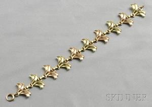 Retro 14kt Bicolor Gold Bracelet Tiffany  Co