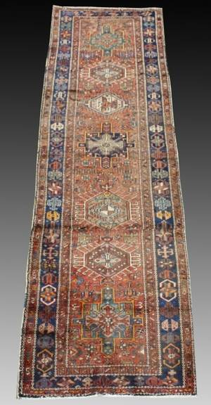 Hand Made Semi Antique Heriz Runner