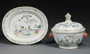 Chinese Export Porcelain Tureen and Undertray